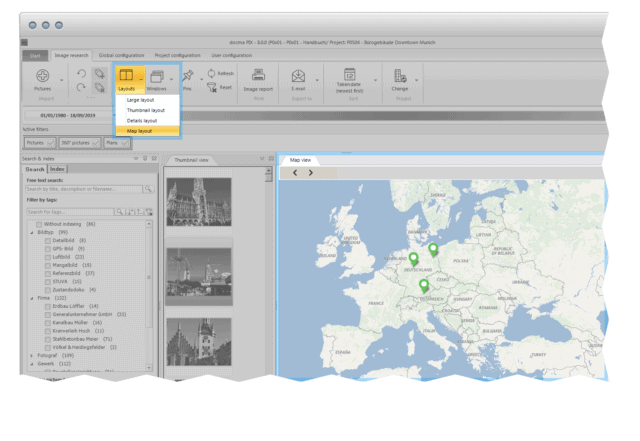 Flexible views - map layout