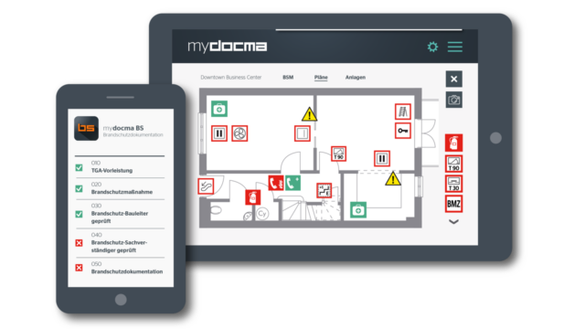 Brandschutzdokumentation mydocma BS: digital & smart